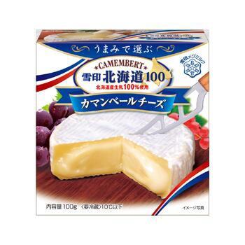 雪印北海道100 カマンベールチーズ 100g x30個セット 【チルド】