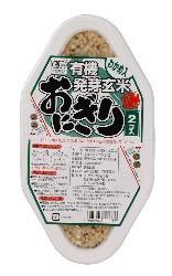 【送料無料(メール便)】ムソー コジマ 有機発芽玄米おにぎり・わかめ (90gx2)x2セット