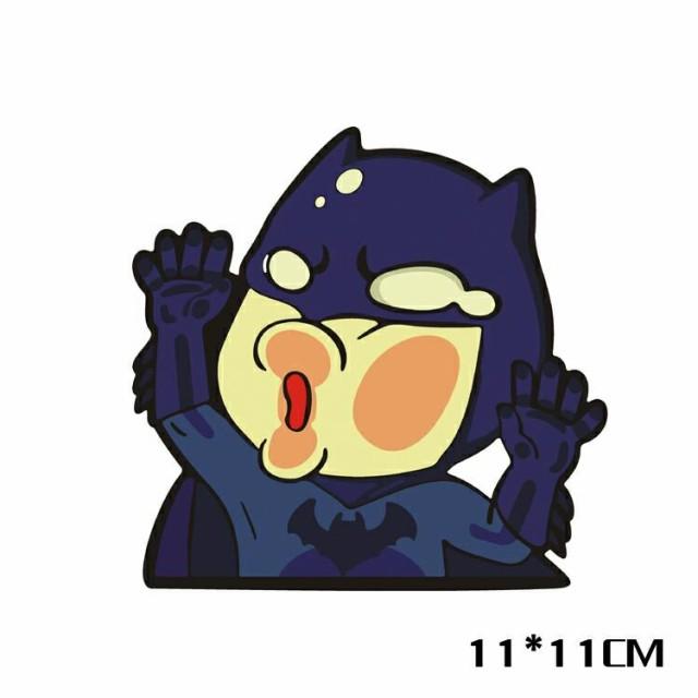 【送料無料】衝突バットマン (Batman) DCコミック ヒーロー 自動車 バイク用ステッカー カーステッカー 11*11cm G196