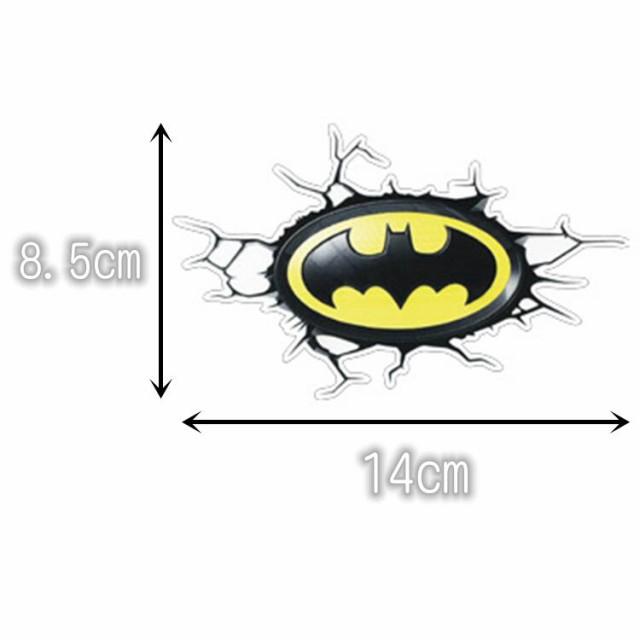 【送料無料】飛び出すエンブレム バットマン DCコミックヒーロー エンブレム 自動車 バイク用ステッカー カーステッカー 8.5*14cm G198