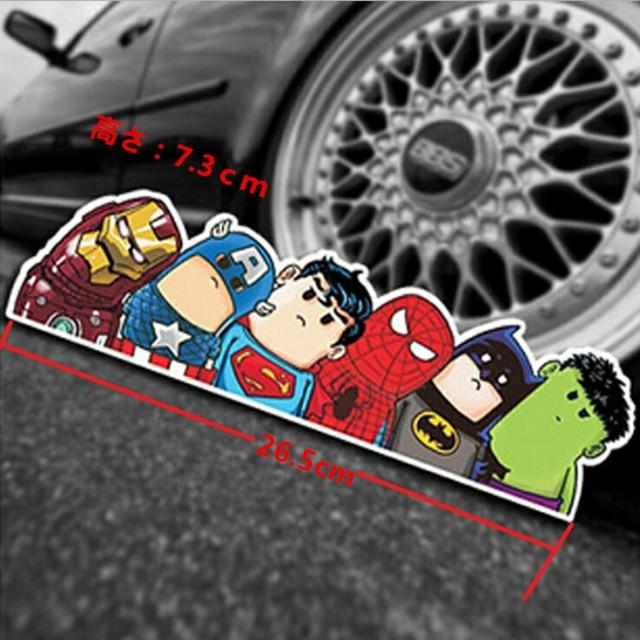 【送料無料】アベンジャーズ マーベルヒーロー アイアンマン キャプテンアメリカ スーパーマン スパイダーマン バットマン ハルク 自動車
