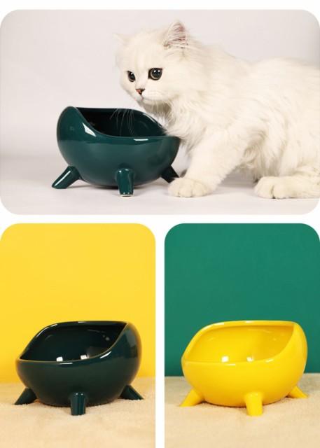 S/Mサイズ 傾斜がある 45度 脚付 ペット ボウル フードボウル 犬 猫食器 陶器 ウォーター ボウル 犬猫用 餌入れ 水入れ 水飲みボウル ペ