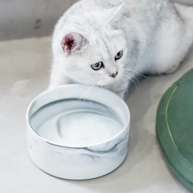 ペット ボウル マーブルピンク マーブルブラック フードボウル 犬 猫食器 陶器 大容量 850MLウォーター ボウル 犬猫用 餌入れ 水入れ