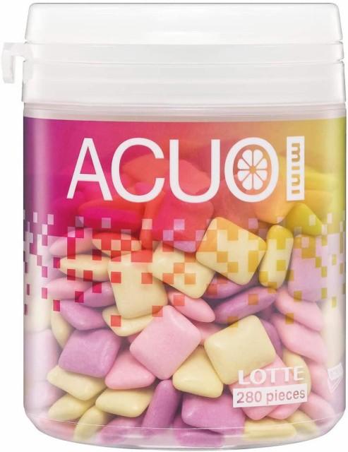 ロッテ ACUO Mini(クリアフルーツミックス) ファミリーボトル 140g ×6個