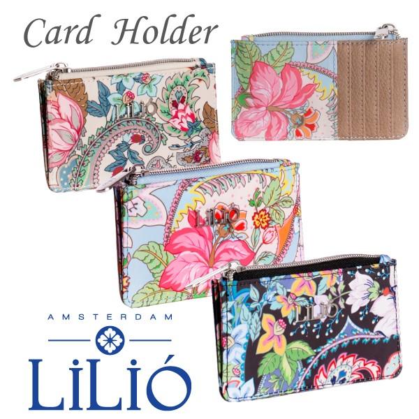 リリオ 公式 レディース カードケース カードホルダー ミニ財布 薄型 財布 コインケース 21年春夏 軽量 花柄 ペイズリー おしゃれ ミセ