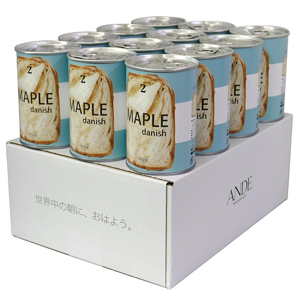ANDE デニッシュ缶 メープル 12缶セット [#1005]