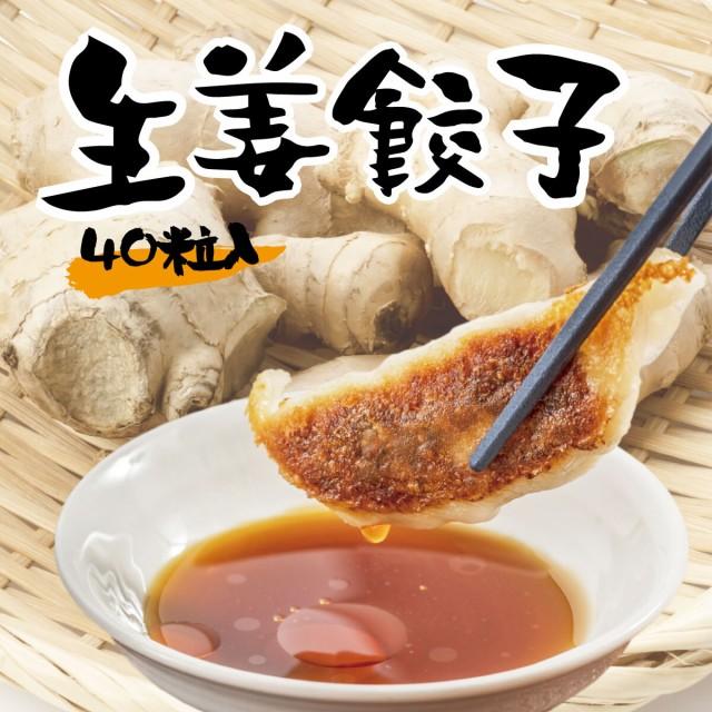 生姜餃子 40個入 1袋 / ぎょうざ ギョウザ ギョーザ お取り寄せ グルメ ご当地 お取り寄せ 冷凍餃子 国産 国産野菜 国産豚肉