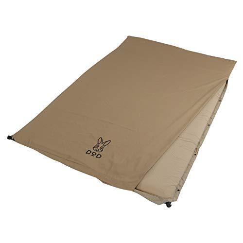 DOD(ディーオーディー) ソトネノサソイM 丸洗いシーツ付き 厚み4.5cmエアマット ダブルサイズ CM2-621-TN