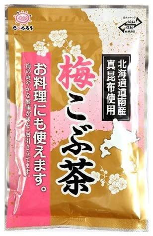 前島食品 梅こぶ茶 300g 大容量 北海道道内産真昆布の粉末使用 ゆうパケットで発送