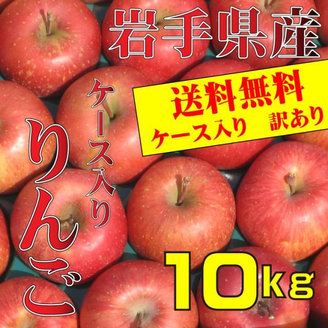 りんご 訳あり ケース入り 岩手県産 10kg