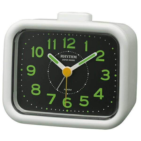 リズム時計 アナログ 目覚まし時計 置時計 ジャプレクラフト 4RA481SR03 RHYTHM 正規品
