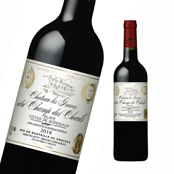 ワイン 赤ワイン シャトー・レ・グラーヴ・デュ・シャン・デ・シャイル フランス産 辛口 フルボディ ボルドー フランスワイン 赤