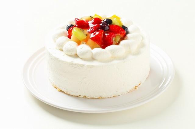 フルーツデコレーションケーキ7号【送料無料】6〜8人分サイズのバースデーケーキ、記念日、お祝いのギフト