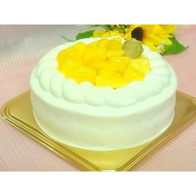 アップルマンゴーのデコレーションケーキ5号【送料無料】バースデーケーキ、お祝いギフト お中元