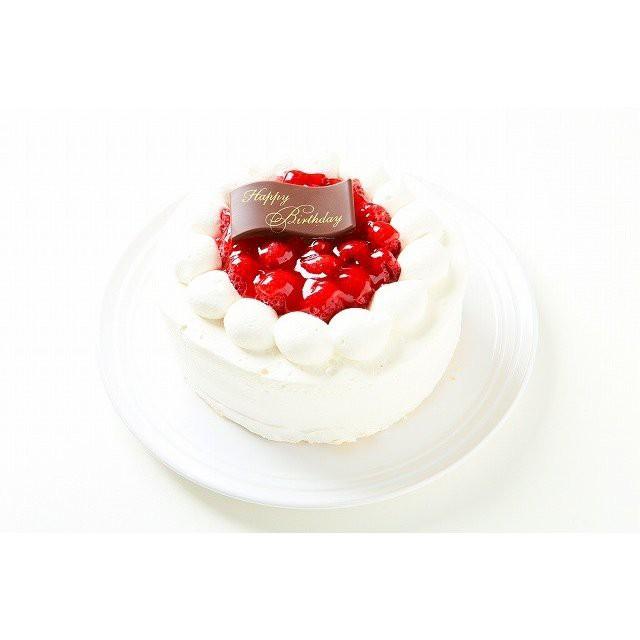 ラズベリーの生クリームケーキ6号【送料無料】バースデーケーキ