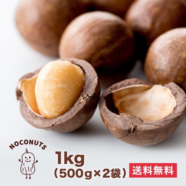 割って食べるから新鮮香ばしい 殻付きマカダミアナッツ 1kg  マカデミアナッツ
