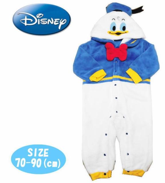 【メール便不可】Disney ディズニーベビー服 ドナルド 着ぐるみ カバーオール もこもこフリース 赤ちゃん ギフト お祝い 出産祝い クリス