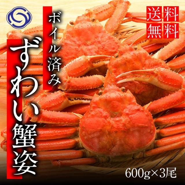 敬老の日 ギフト ズワイガニ ずわいがに 姿 ボイル (600g前後×3尾) かに カニ 蟹