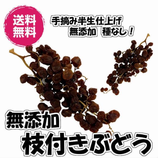 無添加枝付きぶどう ドライフルーツ 140g/70gパックが2袋入 送料無料 ドライレーズン 赤ぶどう (枝付ぶどう70g×2P)140g 砂糖不使用