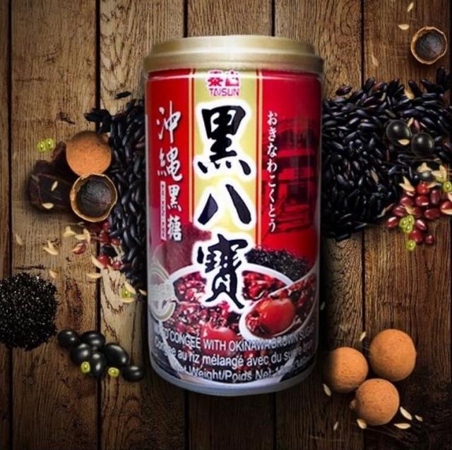 泰山 沖縄黒糖 黒八宝 黒糖味 八宝粥 八寶粥 340g*24缶 台湾超人気商品 台湾風味名物 おかゆ