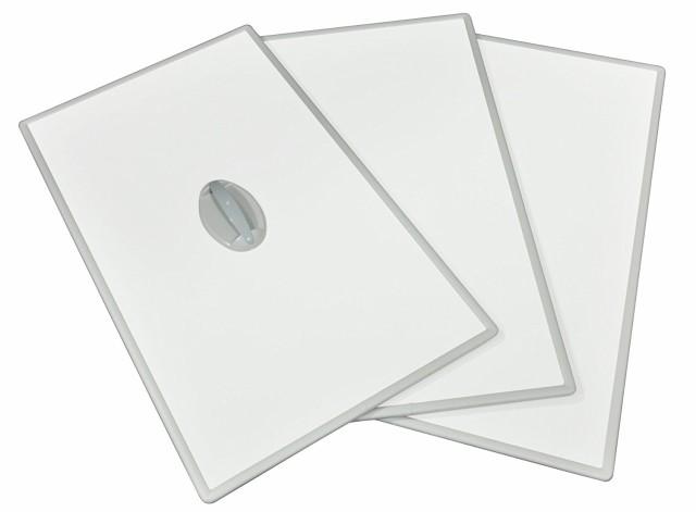 東プレ Ag取手付きアルミふた L11 (3枚割) 75×110cm ホワイト/ホワイト