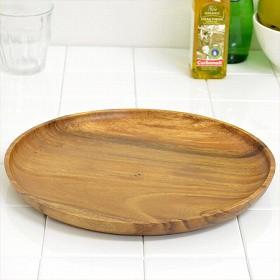 アカシア プレート 大皿 丸皿 木製 30cm 食器 ( お皿 丸型 ウッドプレート ウッド ナチュラル )