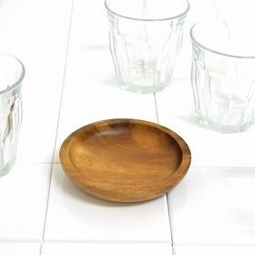 アカシア プレート 小皿 丸型 木製 10cm 食器 ( お皿 丸皿 ウッドプレート ウッド ナチュラル )