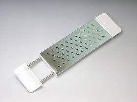 水切りトレー スライド式まな板受け( シンク すのこ 伸縮 )