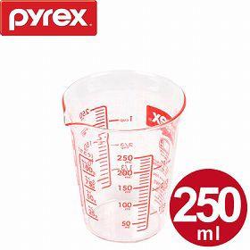 計量カップ 250ml 耐熱ガラス パイレックス PYREX メジャーカップ ( 計量コップ 計量器具 目盛り付き 食洗機対応 電子レンジ対応 冷凍対