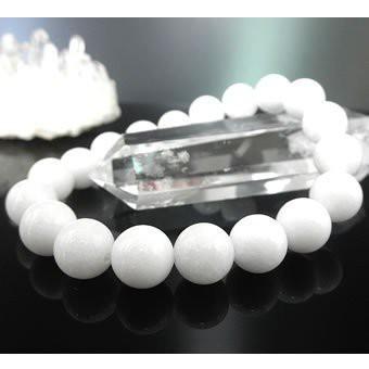 ★白翡翠ブレスレット【高級10mm珠】(ホワイトジェイド、ジェード、硬玉、White Jade) パワーストーン 天然石 ブレスレット