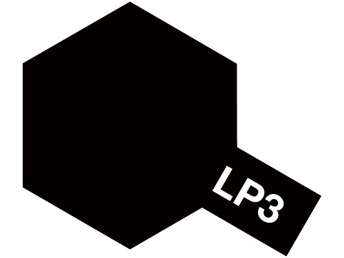 タミヤ ラッカー塗料 LP-3 フラットブラック 《塗料》