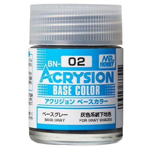 アクリジョン ベースカラー BN02 ベースグレー 塗料