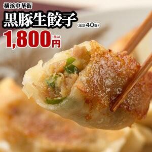 黒豚生餃子40個(20個入×2箱)  販売個数1000万個突破!うまみたっぷりで何個でもいけちゃいます♪