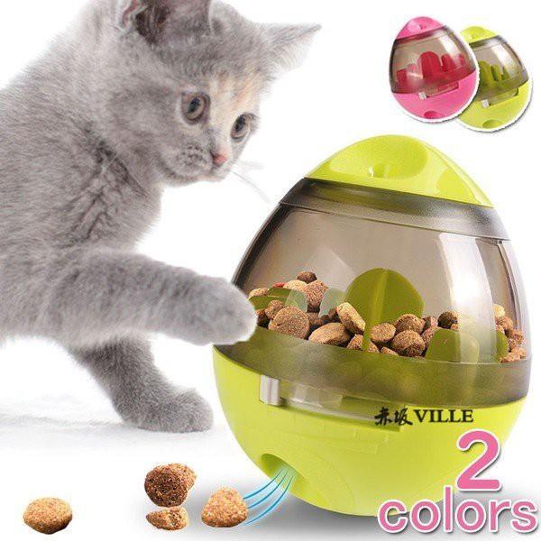 給餌器 自動給餌器 ペット用品猫用品 食器 餌やり、おもちゃ 早食い防止 ダイエット 運動不足解消 餌 ペット 猫用おもちゃ