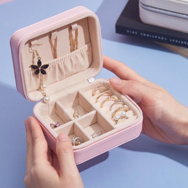 ジュエリーボックス アクセサリー 収納 ピアス ネックレス 指輪 携帯 小物入れ プレゼント 誕生日