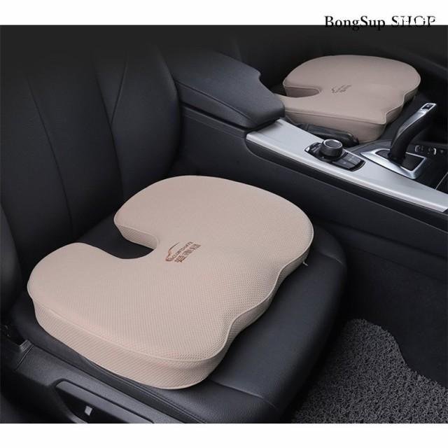 シートカバー シートマット エアーカーシート メモリスポンジ 車クッション 車イス 運転席 前席 助手席 組み合わせ 厚さ7cm 通気 シンプ