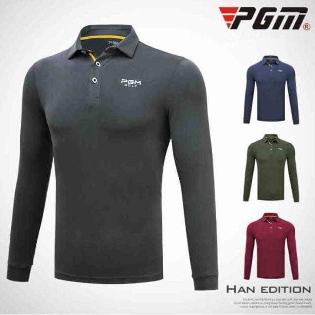 ゴルフ メンズ ポロシャツ 長袖 軽い 暖かいスポーツウェア ゴ ルフウェア テニ ス バドミントン