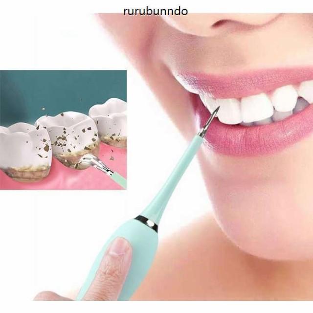 歯用ツール 電動歯ブラシ電動歯クリーナー 超音波スケーラー超音波振動口腔洗浄器4レベルの調整 LED付きIPX6防水 USB充電式 超音波デンタ