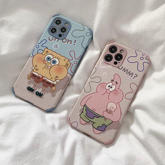 スマホケース iPhone12 iPhone11ケース 保護カバー 携帯ケース アイフォン iPhone11Pro スポンジ・ボブ かわいい キャラクターグッズ お