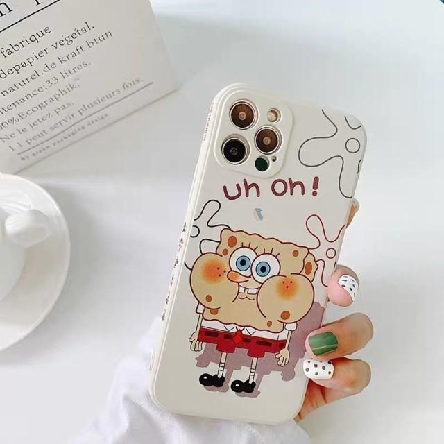 スマホケース iPhone12 iPhone11ケース 保護カバー 携帯ケース アイフォン iPhone12 mini スポンジ・ボブ かわいい キャラクターグッズ