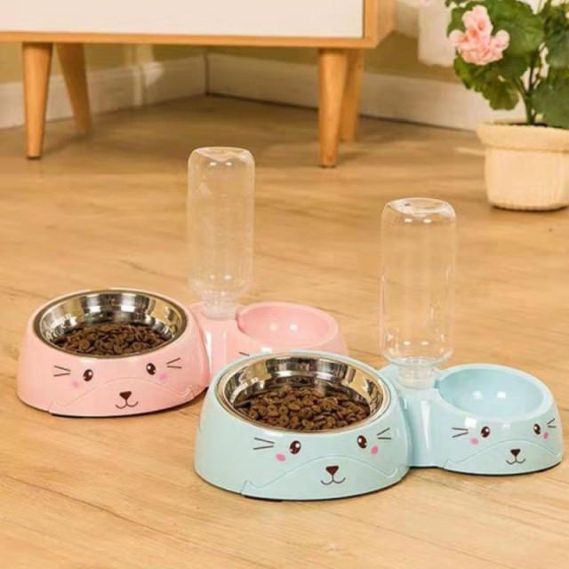 ペット用品 猫 犬用 自動給水器 給餌器 食器 水飲み フードキーパー ペットボトル 自動補給 旅行 外出 給水タンク ペットフード