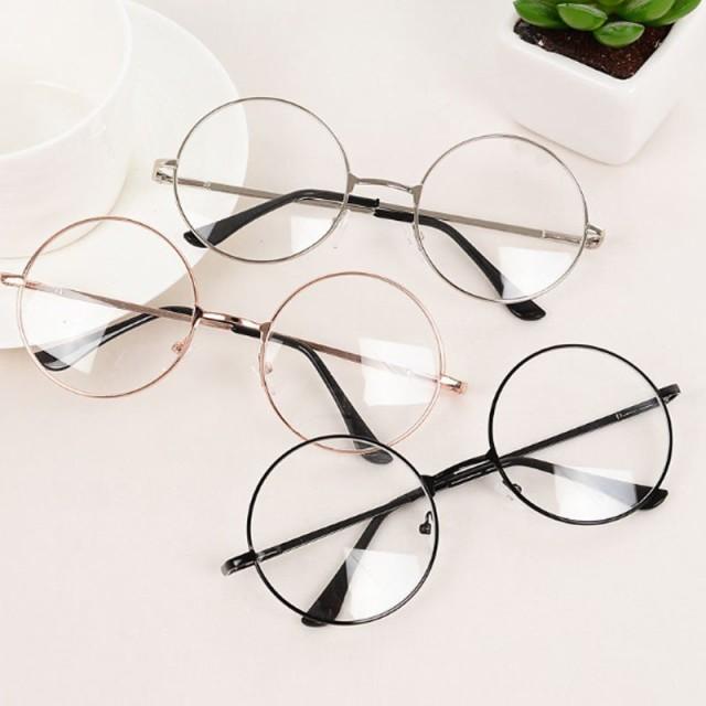 メガネ 丸メガネ 眼鏡 細フレーム おしゃれ ラウンドフレーム メガネ 男女兼用 メタルフレーム サークルフレーム