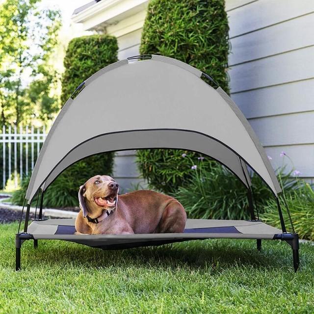 ペット ベッド テント 洗える 夏 涼しい 通気性 メッシュ 犬 猫 アウトドア キャンプ ペット用 コット 脚付き 屋外 マット ひえひえ爽快