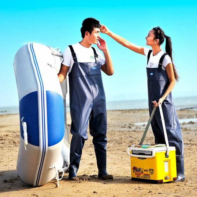 水中長靴 胴長 胴付長靴 釣り用長靴 レインブーツ レインウェア 雨具 オーバーオール 防水 一体型 レディース メンズ 滑り止め 履きやす