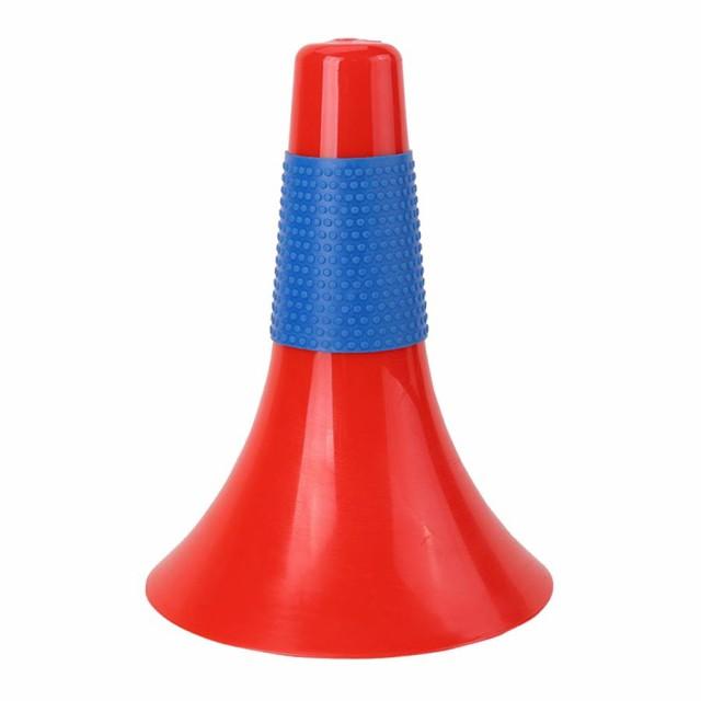 サッカーサッカー安全駐車場敏捷性マーカー赤青のスポーツトレーニング安全コーン