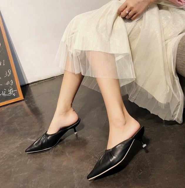 サンダル ピンヒール 履きやすい 柔らかい 韓国ファッション