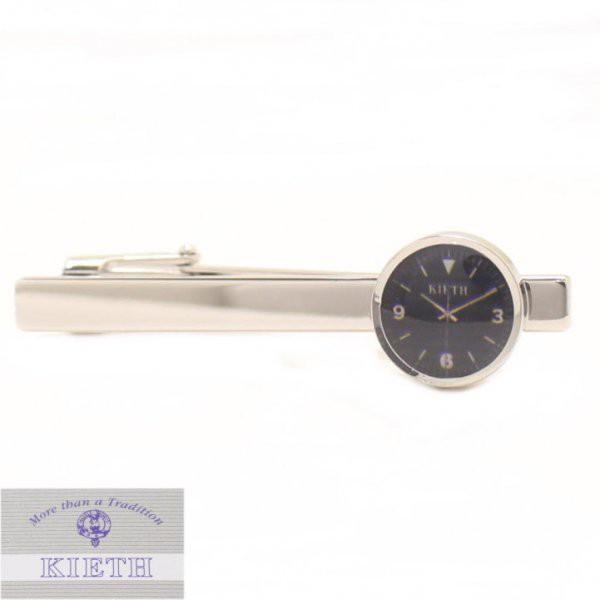 【KIETH】日本製・時計・ブラックのタイピン