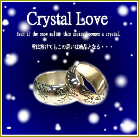 ペアリング 2本セット シンプル お揃い 刻印無料 シルバー 偶数号 FISS 「Crystal Love」ずっと輝き続ける