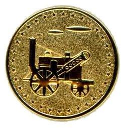 K18ゴールドメッキ 1.4g 汽車GOLDゴルフマーカー