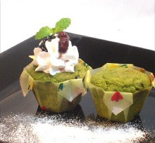 モモばあちゃんの手づくりカップケーキ《抹茶あずき》(1箱12個入) だんらんや/スイーツ/周年祭/誕生日/タイムセール